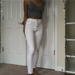 Abercrombie&Fitch white high wasted jeans
